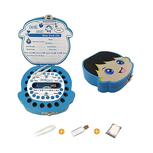 Caja Para Dientes,Caja Para Dientes de Leche Personalizada,Caja Para Guardar Dientes Para Niños y Niñas,Caja de Madera… 2