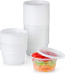 Plastic Deli Food Storage Containers with Airtight Lids (12 oz. - 48 Sets)