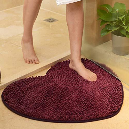 Memory E11 - WONNA Heart Shaped Doormat Anti-Slip Absorbent Bathroom Mat Shaggy Carpet Easy Clean Rug