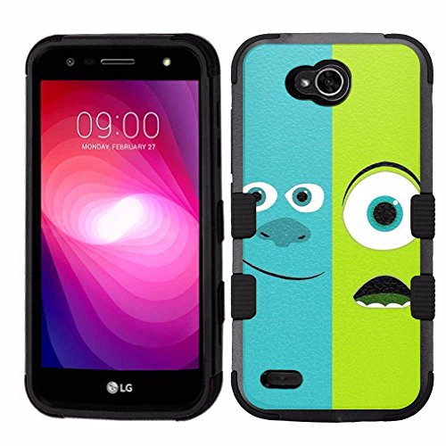 Price comparison product image For LG X Power 2,  (Not for X Power),  Hard+Rubber Dual Layer Hybrid Heavy-Duty Rugged Armor Cover Case - Monters' Inc