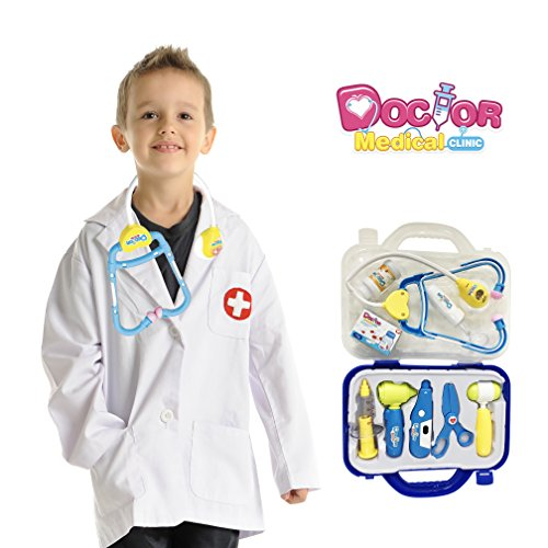 Anika's Crafts 10 Piece Doctor Pretend Play Toys Set for Kids