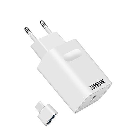 TOPVORK 18W Cargador Rápido USB-C Power Delivery 3.0, Cargador USB PD Tipo C