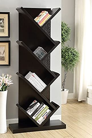 Coaster Home Furnishings Coaster 800540 Bookcase, Cappuccino - Home Furnishings