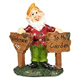 Juvale Garden Gnome Statue – Lawn Gnome – Yard Gnome for Outdoors, 7 x 8 x 2.8 Inches Review