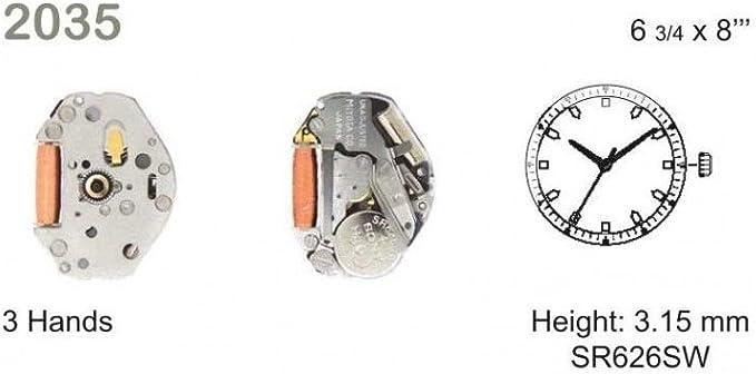 Uhrzubehör mechanisches Uhrwerk MIYOTA 2035 Ersatzbewegung E