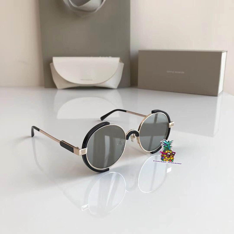 Fashion Vintage Unisex Metal Frame New Gentle man Women Monster infinity Moooi Sunglasses - white silver 1Tss8ZQI