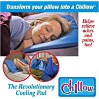 CLKJCAR Chillow Cooling Pillow Relaxing Restful Sleep Natural Water Cool Gel Comfort New