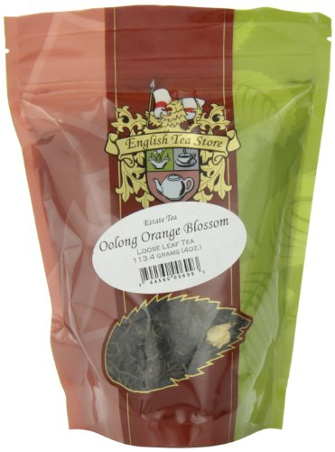 English Tea Store Loose Leaf, Oolong Orange Blossom Estate Tea Pouches, 4 - Blossom Store Orange