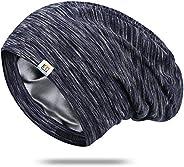 Silk Bonnet Sleep Cap-Satin Sleeping Cap for Women and Men