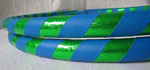 Infinity Collapsible Travel Dance Hoop - MADE IN USA - Ship 1 or 100 One low price (Glitter Green/Blue)