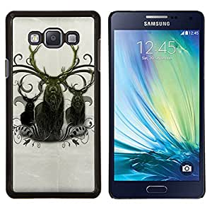 - NORTHERN DEER ANIMAL MAJESTIC ANTLERS - Caja del tel¨¦fono delgado Guardia Armor- For Samsung Galaxy A7 Devil Case