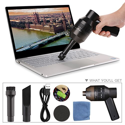 Keyboard Cleaner, USB Rechargeable Mini Vacuum Air Duster with Cleaning Gel, Portable Keyboard Vacuum Cleaner for Cleaning Dust, PC, Hairs, Crumbs, Laptop, Scrap, Piano, Computer, Car and Pet House by Aliengt (Image #7)