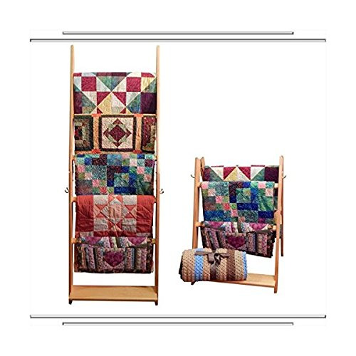 - The LadderRack 2-in-1 Quilt Display Rack (5 Rung/30