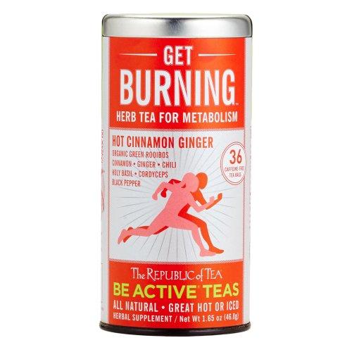 The Republic Of Tea Be Active Green Rooibos Tea Get Burning - Herb Tea For Metabolism, 36 Tea Bags