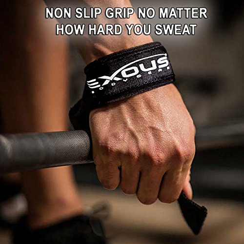 Lifting Straps Weight Lifting Wrist Support Heavy Duty With 5mm Padded Neoprene For Power Dead Lift Crossfit Bodybuilding Grip Strength NON slip Material [PAIR]