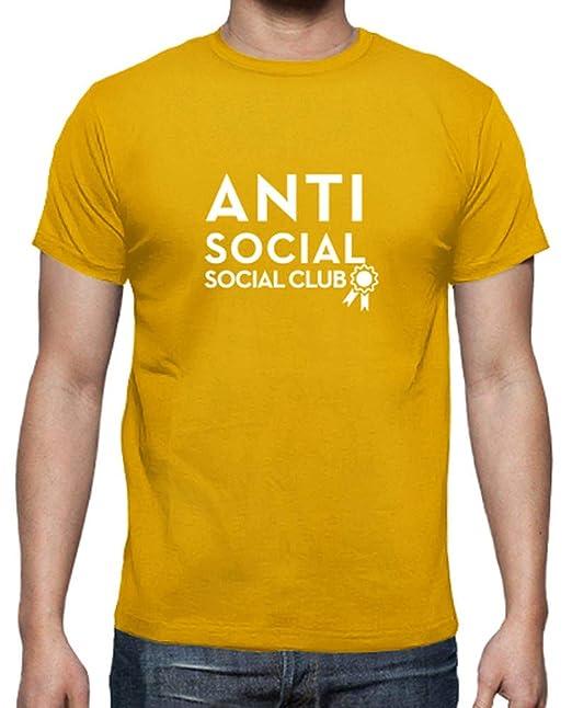 latostadora - Camiseta Clubes Sociales para Hombre Amarillo Mostaza S