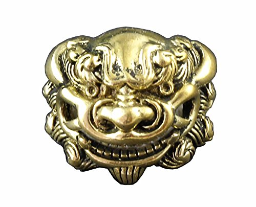 Screw-eye Son of Dragon Head Brass concho for wallet Leather Craft (Brass Conchos)
