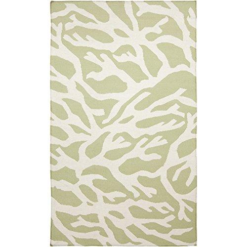 (Somerset Bay by Surya Boardwalk BDW-4001 Coastal Flatweave Hand Woven 100% Wool Lettuce Leaf 3'3
