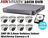 Hikvision 16CH Turbo HD Analog CCTV System with