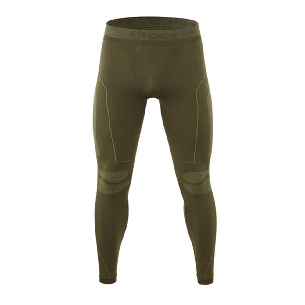 Maglia Manica Lunga Strato Base Sportivo LINGKY Set Biancheria Intima Termica Pantaloni Intimi Quick Dry per Allenamento di Sci da Corsa