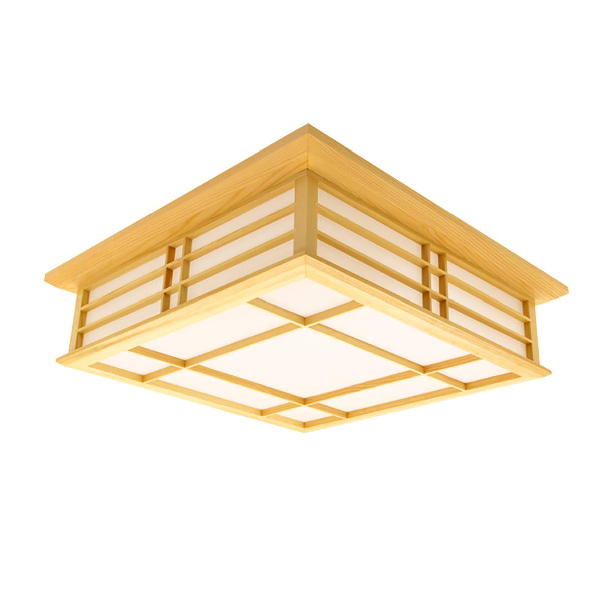 CMES 18 W Studie Schlafzimmer Licht Holzdecke Lampe LED Leuchtet Japanische Tatami Stehleuchte (350MM  350MM  100MM), weißes Licht