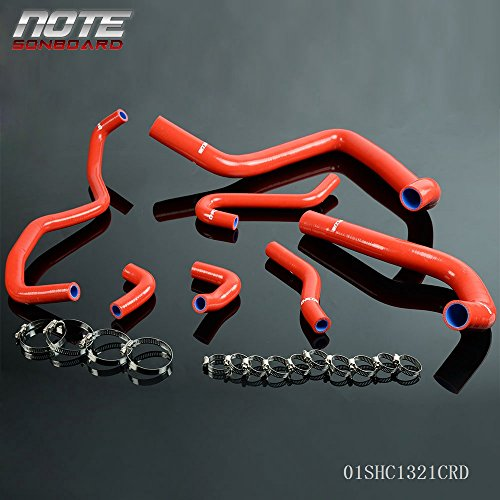 Silicone Radiator Coolant Hose Kit Clamps For HONDA/Acura Integra DB6 DB8 DC2 B18C B18C1 91-94 Red