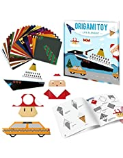 Paperkiddo Origami Paper Kit with Easy Origami Projects Colored Instructional Book Origami Paper for Kids Adults Beginners Training and School Craft Lessons
