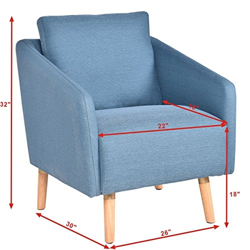 Review Giantex Accent Leisure Upholstered