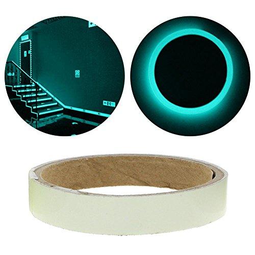 Niome Luminous Fluorescent Night Self-adhesive Glow In The Dark Sticker Tape 1.5cm 1m Blue (Fluorescent Card)