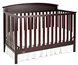 Graco Benton 5-in-1 Convertible Crib, Espresso, Easily Converts to Toddler Bed, Day Bed or Full Bed, 3 Position Adjustable Height Mattress (Mattress Not Included)