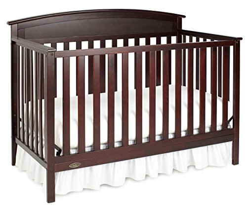 Graco Benton 5-in-1 Convertible Crib, Espresso Easily Converts to Toddler Bed, Day Bed or Full Bed, 3 Position Adjustable Height Mattress (Graco Convertible Crib)