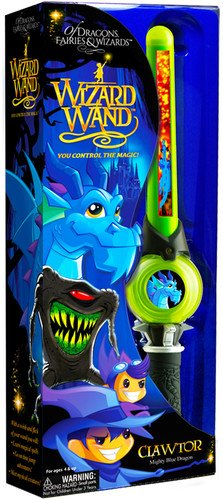 (Of Dragons, Fairies, and Wizards Clawtor Hand Held Wand, Green )