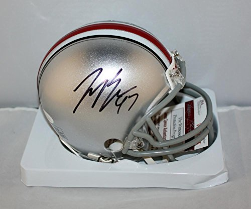 Ohio State Riddell Mini Helmet (Joey Bosa Autographed Ohio State Buckeyes Mini Helmet- JSA Witnessed Auth)