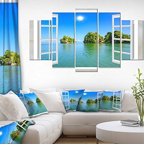 Open Window to Ocean Islets Oversized Landscape Wall Art Print