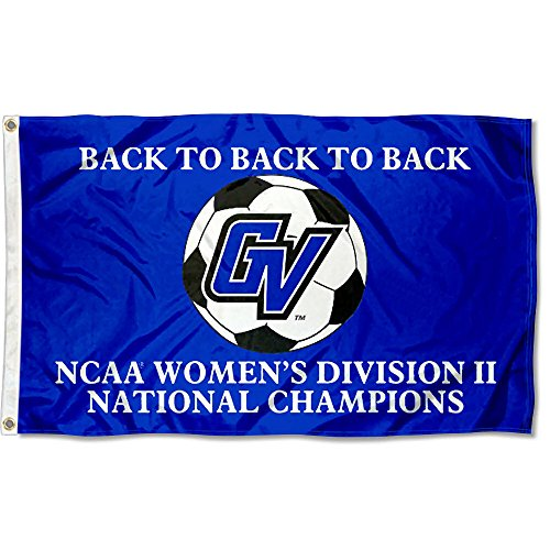 GVSU Lakers 2015 Div II Women's Soccer Champs Flag by College Flags and Banners Co.