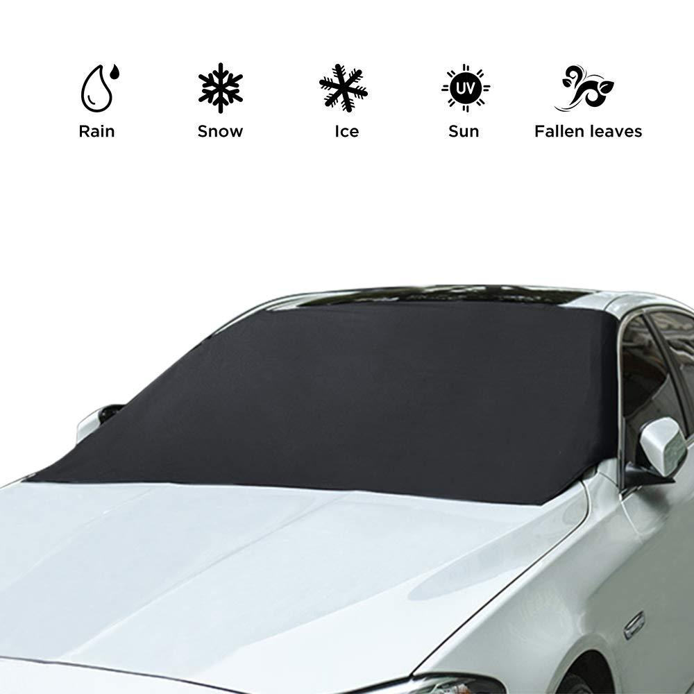 Auto Anti UV Antighiaccio e Antigelo Neve Copertura Parasole Copri parabrezza per Veicoli 210 x 120 cm Simpeak Protezione per Parabrezza