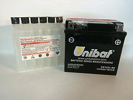 Unibat - Batería para moto, 12 V, (__cbtx5l_bs ytx5l_bs): Amazon ...