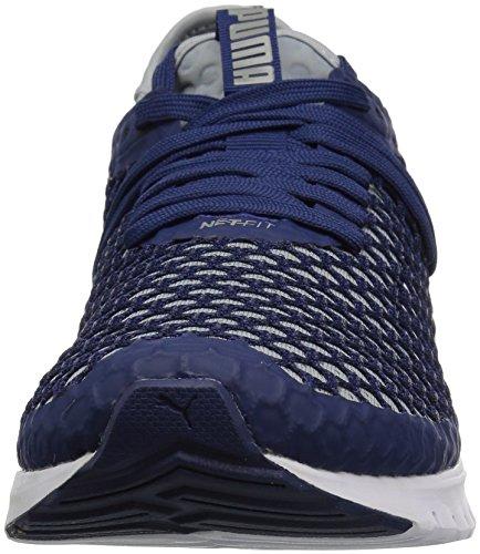 Puma Men's Ignite Dual Netfit Sneaker, Black Blue Depths-quarry