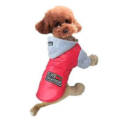 TinghaoStore Ropa para Mascotas Abrigo Rompevientos Abrigo de algodón Ropa para Perros Ropa de Invierno Abrigo