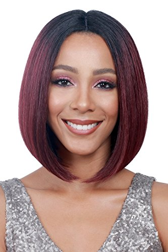 Bobbi Boss Synthetic Lace Front Wig – MLF138 APRIL Color shown is 99J ( 4-Light Brown ) Review