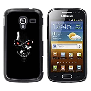 LOVE FOR Samsung Galaxy Ace 2 Robot Skull Black Scary Movie Technology Personalized Design Custom DIY Case Cover