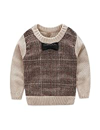 TeenTop Plus Velvet Children's Round Neck Sweater Long Sleeve Bow Sweater Jacket