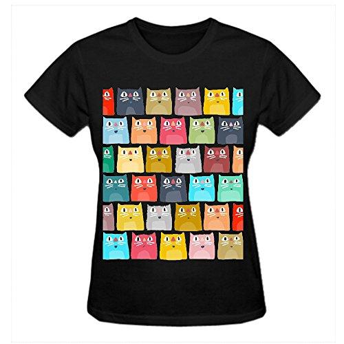 Summer Cats Jgi Custom T Shirts Design Your Own Crew Neck Black