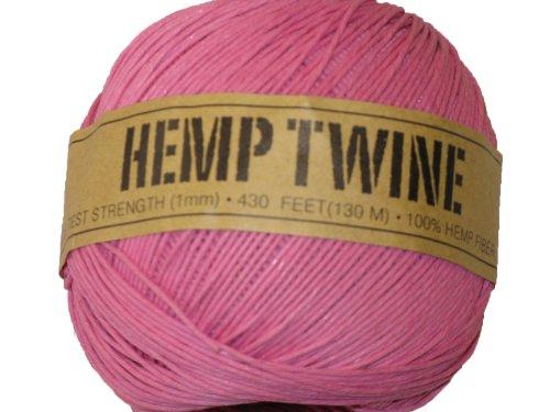 Hemp Twine Pink 20# 1mm 430Ft 130m ()
