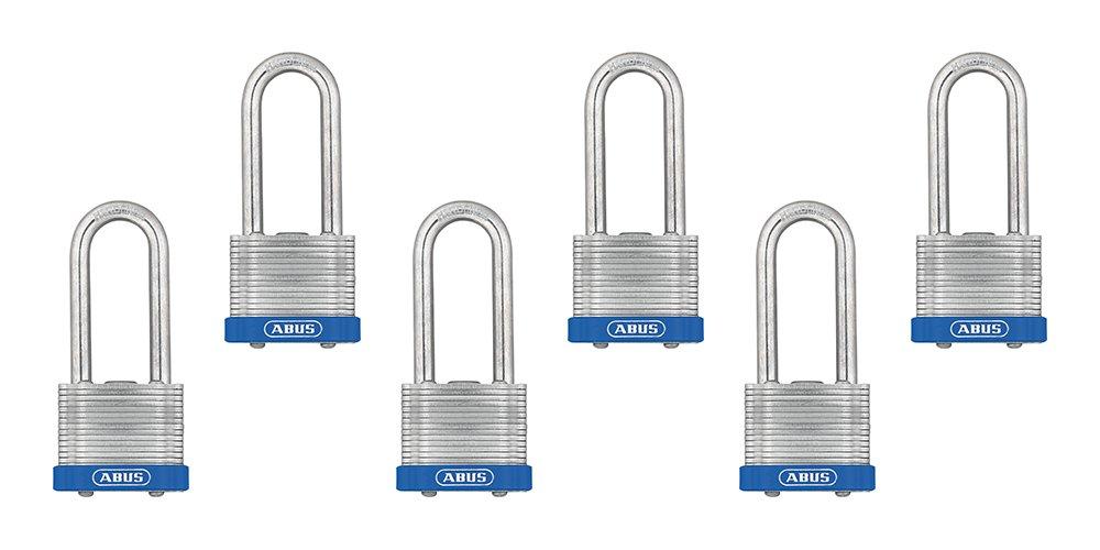 Master Lock Padlock Wide 1TRILJ 1-3//4 in Pack of 3-Keyed Alike Laminated Steel Lock
