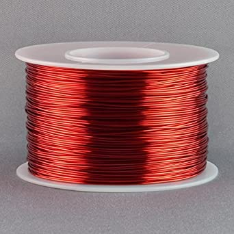 Magnet wire 24 gauge awg enameled copper 396 feet tattoo coil magnet wire 24 gauge awg enameled copper 396 feet tattoo coil winding red keyboard keysfo Images