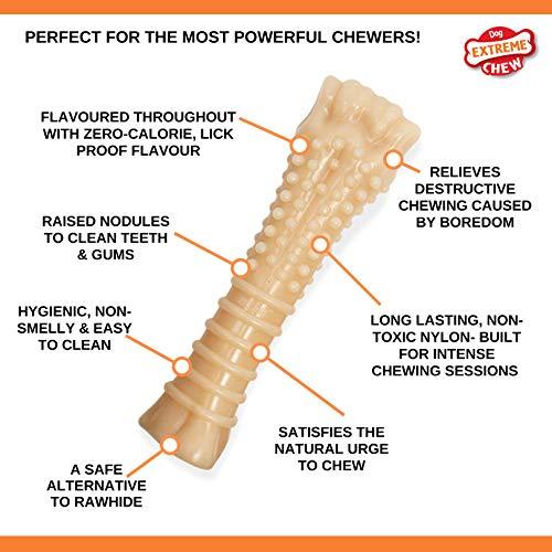 Nylabone Dura Chew Textured Toy, X-Large - Original Bone ( Standard Packaging )