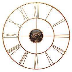 Infinity Instruments Pearle D'or 45.25 Inch Rose Gold Wall Clock