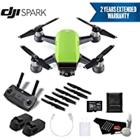 DJI Spark Portable Mini Drone Quadcopter Advanced Bundle (Meadow Green) w/Remote Controller + 2 Year Extended Warranty
