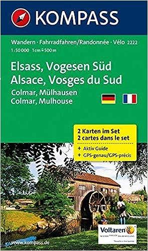 Elsass Karte Colmar.Elsass Vogesen Süd Alsace Vosges Du Sud Colmar Mülhausen